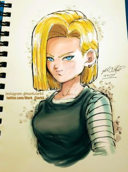 Android18 plus video by Mark-Clark-II