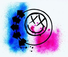 blink-182 Smiley Face by blak-sheap-ink