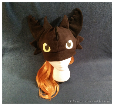 Toothless Hat v2.0 by Allyson-x