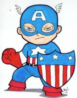 Chibi-Captain America 4. by hedbonstudios