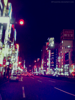 Shibuya street... 3 by freezinka