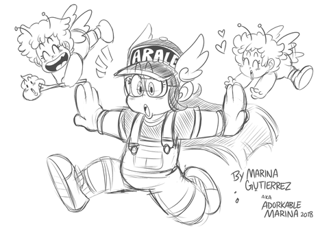 Arale-chan! by AdorkableMarina