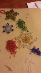 Beaded Snowflakes by RamenG553