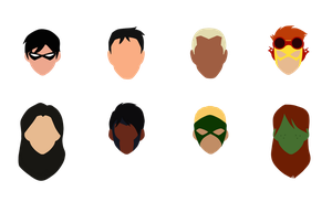 Minimal Young Justice by paandra