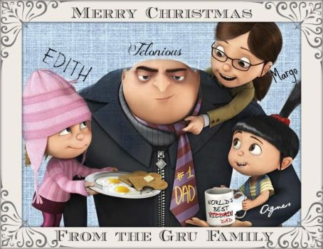 The Gru's Christmas Card by Fragmented-Shadows