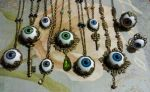 Eyeball necklaces by OphanimGothique