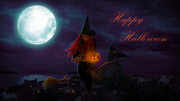Broomstick And Pumpkin Dust by MakerV4