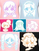 Cute Anime Girl Series T-Shirts! by Bon-Bon-Bunny