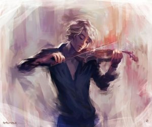 Violin and James Carstairs by AkiMao