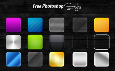 15 Free Photoshop Styles by imonedesign