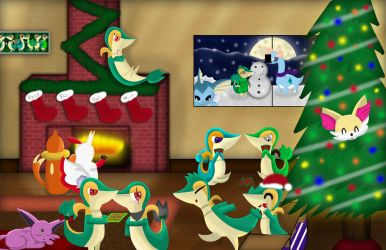Chirstmas Party At Rose's House by VisionarySerpent