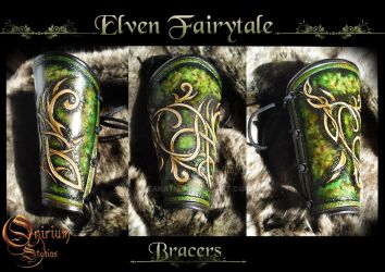 Elven Fairytale - Vambraces / bracers (FOR SALE) by Deakath