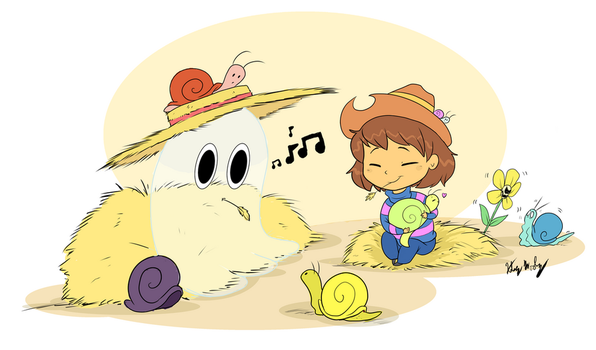 At the Snail Farm by StrixMoonwing