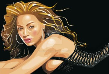 Beyonce Knowles Retrato Vector by Puchalt