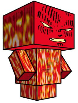 Cubee - Human Torch by 7ater
