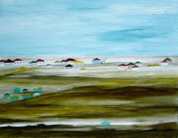 outlying village by MeralSarioglu