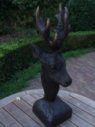 Woodcarver black roebuck fantasy2 by woodcarve