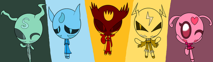 Elemental Demons (Recolor) by hobbybutterfly