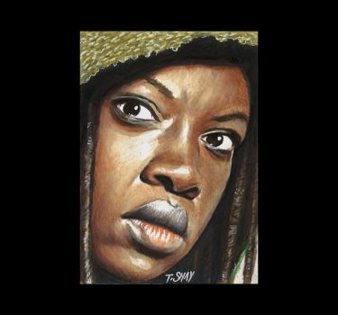 Michonne - Walking Dead by Dr-Horrible