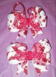 Mini Bloody or Walking Dead hair bow by wolf-girl87