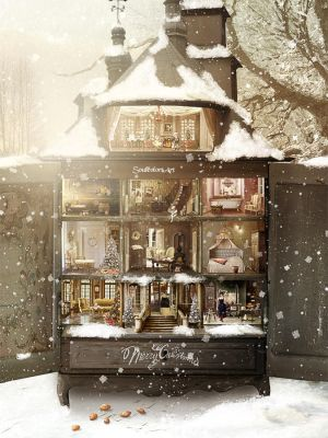 Dollhouse Christmas by SoulcolorsArt