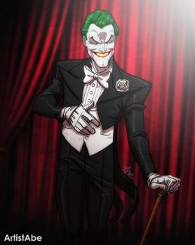 Joker in a Tux by ArtistAbe