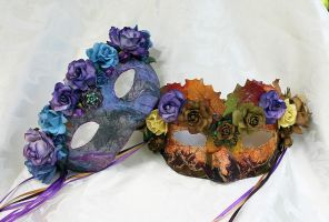 Mulberry Goddesses Masquerade Masks by DaraGallery