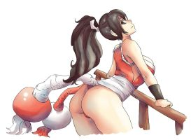 Mai Shiranui - The King of fighters -Practice2 by Mick-cortes