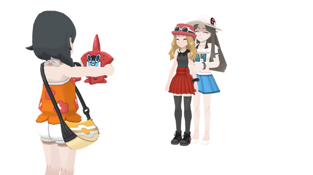 Taking a Photo to the Champions of Kanto and Kalos by Mk513