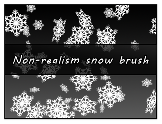 Non-realism snow brush by Faeth-design
