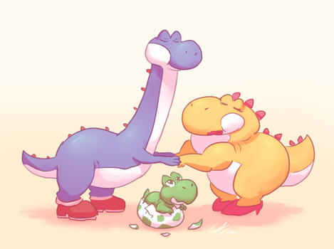 yobby, yonny and yoshi by Wolframclaws