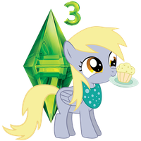 Sims 3 Derpy Icon by inapatricia