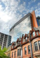 Montreal Centre-Ville in HDR by Deenoe