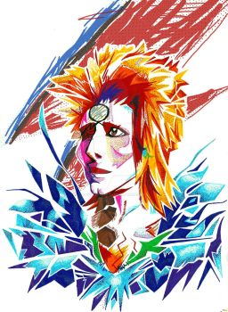 Glam Bowie Rock by girl-skeleton