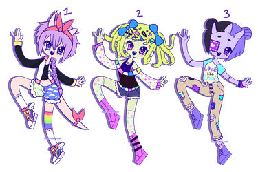 Pastel Monsters [CLOSED] by hello-planet-chan