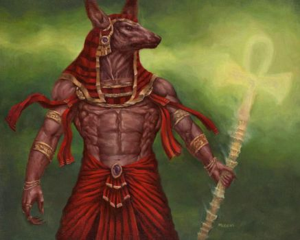 Anubis Oil Painting Final by adammiconi