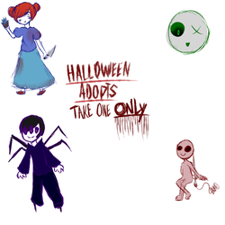 Free Halloween Adopts {they gone} by Cyber-Nova