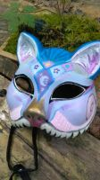Painted Cheshire Cat Fest Mask by PixieGroveStudios