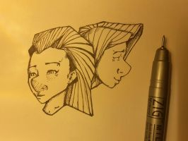 Doodles with Ink pen by MarTs-Art