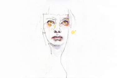 Golden eyes girl by agnes-cecile