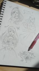 [My Sketchbook] #4 Flame Girls by KeiARTx