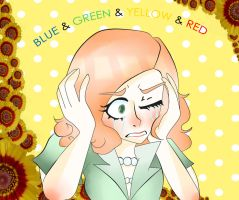 Blue and Green and Yellow and Red by peach-iie