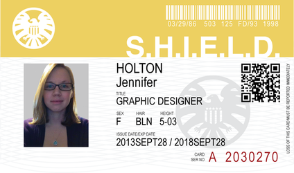 SHIELD ID card by JennHolton