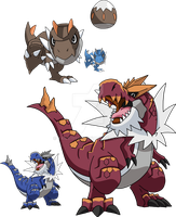 696 and 697 - Tyrunt Evolutionary Family