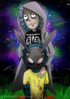 Rick and Morty Donnie Darko (plz stop stealing it by MeLiNaHTheMixed