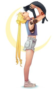 Usagi and Luna by mannequin-atelier