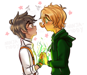 ninjago/RWBY:crossship_PINEGREEN movieLloyd+Oscar by YASSDENSWH
