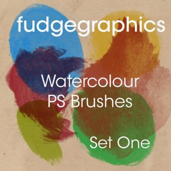 Watercolour Brushes Set 1 by fudgegraphics