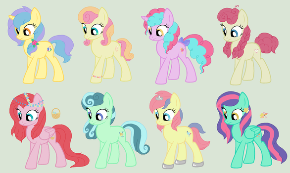 Quadruple ship adoptables CLOSED 8/8 by TheWritingHippo
