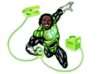 Green Lantern by paperlab